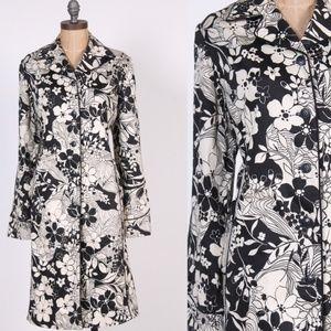 Oscar de la Renta coat black + white mod vintage